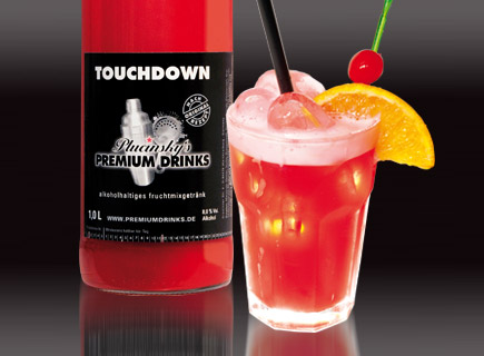 Touch down cocktail  Plucinsky's Premium Drinks - Touchdown
