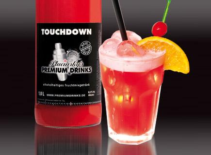 Touch down cocktail  Plucinsky's Premium Drinks - Touchdown